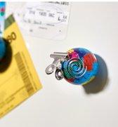 Moses magneten - Wereldbol 4 stuks - koelkastmagneet whiteboardmagneet