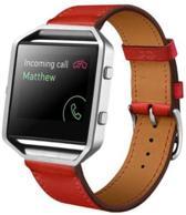 Rood - Trendy Eco Leer armband bandtje polsband voor Fitbit Blaze