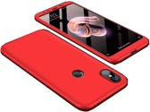 Teleplus Xiaomi Mi 8 360 Ays Hard Rubber Cover Case Red + Nano Screen Protector hoesje