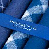 Zakdoeken - heren - meerkleurig - marineblauw