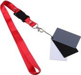 Premium 3-In-1 Grijskaarten Set - 18 % Digital Grey Card Met Keycord