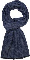 Michaelis heren sjaal - grijs - blauw vissengraat
