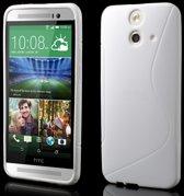 HTC One E8 TPU Case S-shape Wit