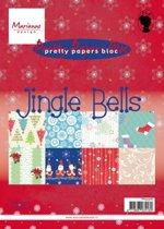 Marianne Design Pretty papers blocs » Cards en Colours » Pk9098 Jingle Bells.