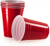 Red Cups, Beer Pong, 100 Stuk, Extra sterk, USA Original