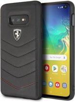 Ferrari Leren Backcover Samsung Galaxy S10e - Zwart