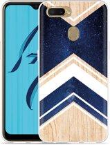 Oppo AX7 Hoesje Space wood