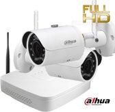 Wifi camerasysteem Dahua 4 megapixel met 2 camera's