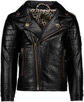 Like Flo Meisjes truien & vesten Like Flo Flo girls imi leather biker jacket zwart 128
