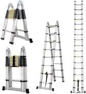 Telescopische Ladder Inklapbaar - Werkhoogte 3.80 m