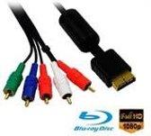 Zware kwaliteit Sony Playstation 2 en Sony Playstation 3 audio video kabel. Afgeschermde PS2 en PS3 component kabel met 1 jaar garantie op werking en breuk.