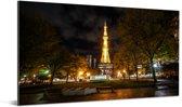 De tv toren van Sapporo-shi gezien vanaf een afstand Aluminium 80x40 cm - Foto print op Aluminium (metaal wanddecoratie)