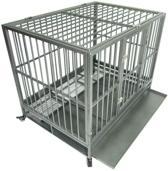Hondenbench Sterk 91x61x67cm bench hond 2 deuren