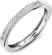 Majestine 9 Karaat Alliance Ring Witgoud (375) met Diamant 0.11ct maat 54