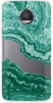 Motorola Moto Z2 Play Hoesje Turquoise Marble Art