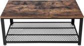 PLANT&MORE salontafel - Hout met zwart onderstel - 106x60cm