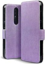 Qubits - slim wallet hoes - Nokia 5.1 Plus- paars