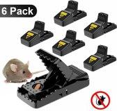 Muizenval – Kleine Ratten - 6 stuks - Rattenval - Herbruikbaar – Professioneel - Veilig in gebruik - Duurzaam - Hygiënisch -Snelle dood - Muizenvallen set – Muizenklem – Muizenplaaag – Ongedierte.