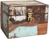 Raw Materials Scrapwood Kistje – 19x13x13cm – Gerecycled hout - Opbergbox