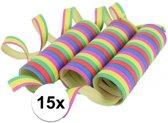 Gekleurde serpentine 15 rollen