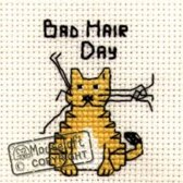 Mini Borduurpakketje Kat Bad Hair Day - Mouseloft
