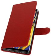 Rood Pull-Up Booktype Hoesje voor Galaxy Note 9