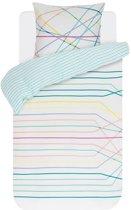 Esprit Teon - Dekbedovertrek - Eenpersoons - 140x200/220 cm + 1 kussensloop 60x70 cm - Multi kleur
