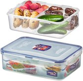 Lock&Lock Bento Lunchbox – Incl. verdeler – 1,6L – Transparant