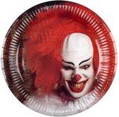 Set 6 Bordjes Horror clown (23 cm)