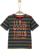 s.Oliver Jongens T-Shirt korte mouw - donkerblauw - Maat 128/134