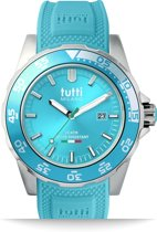 Tutti Milano TM900TU- Horloge -  42.5 mm - Turquoise - Collectie Corallo