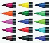 Edding 4200 porselein-penseelstift. Etui met 15 stuks assorti kleuren.