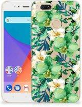 Xiaomi Mi A1 TPU Case Orchidee Groen
