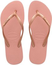 07117dea482d8c Havaianas Slippers Flipflops Slim Logo Metallic Roze Maat:37/38