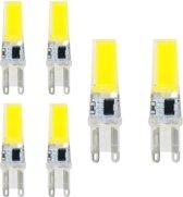 6 Stuks - G9 10W Koud Wit COB LED Lamp - Dimbaar