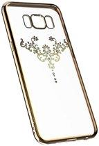 Crystal Swarovski Iris Soft Case Cover voor Samsung Galaxy S9+ (Plus) - Transparant/Goud