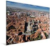 Skyline van de Kathedraal in het Spaanse Leon Canvas 120x80 cm - Foto print op Canvas schilderij (Wanddecoratie woonkamer / slaapkamer) / Europese steden Canvas Schilderijen