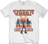 Queen - 1976 Tour Silhouettes heren unisex T-shirt wit - XL