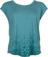 Python Curved Burnout Shirt Dames Sporttop - Shaded Spruce