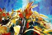 Cactus, cactussen langs berg weg in Spanje, Andalusië, Velez Malaga | abstract, modern, plant | Foto schilderij print op Canvas (canvas wanddecoratie) | 60x40cm