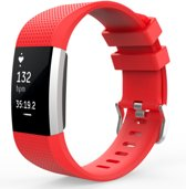 YONO Siliconen bandje - Fitbit Charge 2 - Rose Red - Small