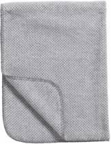 Meyco Classic Stripy Pepita Wiegdeken - 75x100 cm - Grijs