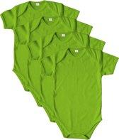 Link Kidswear Unisex Rompertje - Lime Groen - Maat 50/56