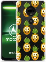 Moto G7 Plus Hoesje Happy Ananas