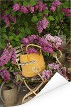 Seringenbloemen in een traditionele tuin Poster 120x180 cm - Foto print op Poster (wanddecoratie woonkamer / slaapkamer) XXL / Groot formaat!
