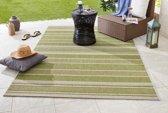 Binnen & buiten vloerkleed Strap - groen 80x150 cm
