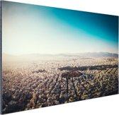 FotoCadeau.nl - Het uitzicht vanuit de lucht van Athene Aluminium 90x60 cm - Foto print op Aluminium (metaal wanddecoratie)
