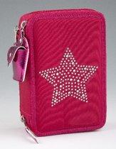 Topmodel 3-vaks Etui STAR Red-