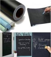 Krijtbord Sticker - Schoolbord Sticker - Kinder Krijtsticker - Muursticker stickerrol + Kalkbord Krijtjes, 60 x 200 cm
