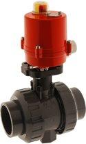 32mm 24V DC Elektrische Kogelkraan PVC Lijm 3-Punt 16 Bar - PB - PB-032SS-AG2-024DC